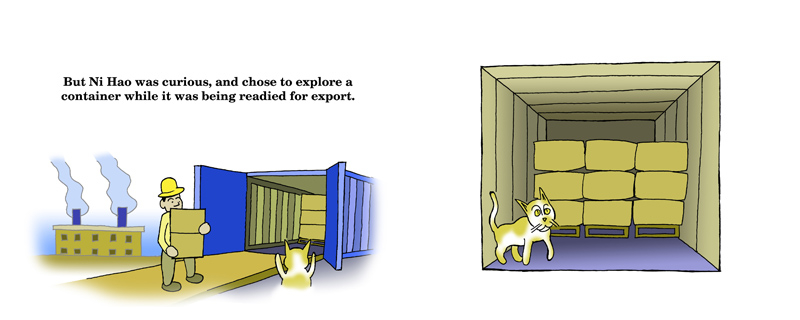 Ni Hao's Journey pages 6 & 7